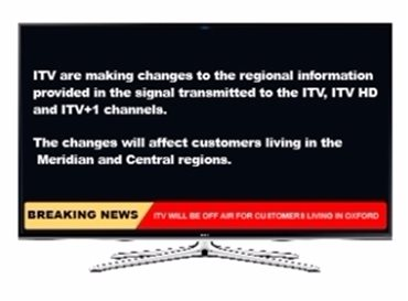 Freeview - Changes to ITV Central and Meridian Regions