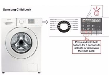 samsung washing machines child lock boxclever. Black Bedroom Furniture Sets. Home Design Ideas